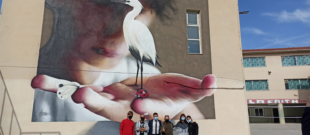 7th High school. Artist: Cheone. Kalamaria, Thessaloniki, Greece, 2020