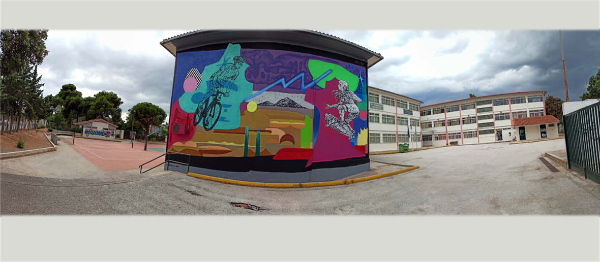3nd Secondary school, 2nd mural, Kifissia, Attiki, Greece, 2020
